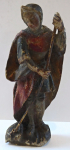 Small wooden polychrome statuette - Saint George
