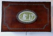 Mahagon box with medallion, for cigars - Empire