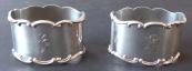 Two silver napkin rings - Lutz & Weiss, Pforzheim