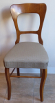Chair with bright line, oak - Biedermeier