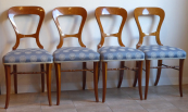 Four chairs with bright inlays - Biedermeier