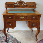 Writing desk with extension, walnut - Louis Philippe