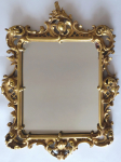 Wooden gilded mirror, with Baroque carvings - Haff & Pisa