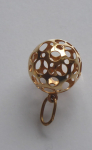 Gold Pendant - Carved Ball