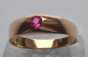 Gold ring with pink stone - jeweler A. S.