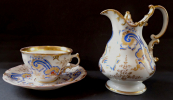 Cup and saucer and milkpot - Klösterle 1853