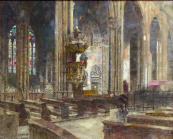 Bedrich Cerny - Interior of the Church of St.Vitus