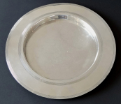 Round Silver Plated Tray - William Hutton & Sons.