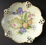 Decorative bowl with flowers and roccaile - Rosenthal