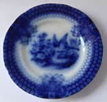 Blue plate with a bird and flowers - India, Villeroy & Boch