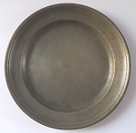 Tin plate with monogram and dated 1826