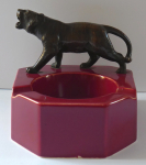 Ashtray with tiger - Schlierbach, Wächtersbacher Steingutfabrik