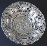 Round large silver decorative bowl - style Hanau, Germany
