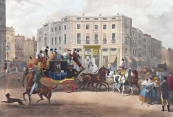 G. V. C. Hunt - The Age, Brighton Coach At The Bull and Mouth, Regent Cirkus Piccadilly