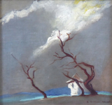 Bohumira Hruskova, Jezkova - Chapel with trees during the storm