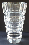 Cut vase of clear glass - Desna