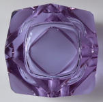 Alexandrite glass ashtray
