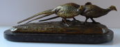 Viennese Bronze Sculpture - Pheasants