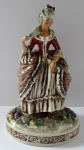 Statuette, Rococo ladies with fan - Germany