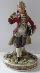 Statuette of Rococo cavalier, with roses - Gräfenthal