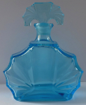Carafe of aquamarine glass - Art deco