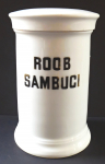 Porcelain pharmacy container, Roob Sambuci - Elbongen
