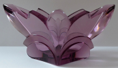 Bowl of amethyst glass, art deco - Rudolf Hlousek