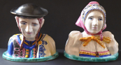 Ceramic Busts in Slovak Costume - Modra