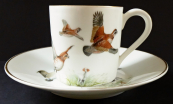 Coffee cup with ducks and quails - Paris