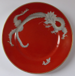 Red plate with Chinese dragon - Rosenthal