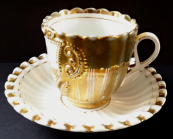 Souvenir gilded cup, for birthday