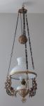 Art Nouveau pendant kerosene lamp