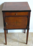 Oak bedside table with inlaid stars - classicism