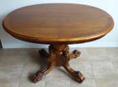 Smaller oval table with central leg - late biedermeier
