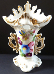 Small porcelain vase, painted flowers - second rococo