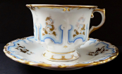 Cup with light blue and gilded ornament - Schlaggenwald