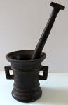 Small iron mortar