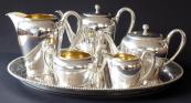 Silver tea and coffee service - Wilhelm Binder, Schwäbisch Gmünd