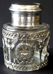 Silver and glass jar, Empire ornament - Weinranck  & Schmidt, Hanau