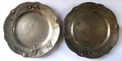 Two pewter Art Nouveau plates - Kayserzinn, Hugo Leven