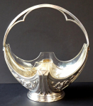 Art Nouveau Silver basket with glass bowl