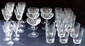 Drinking glasses with art deco ornament - 28 pcs
