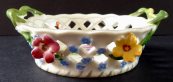 Porcelain basket with flowers - Dresden