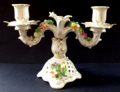 Porcelain candlestick in rococo style - Dresden