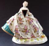 Rococo girl in wide skirt - Dresden