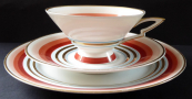 Art deco cup with saucer and plate - Arzberg