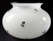 Bowl, white opal glass - Loetz