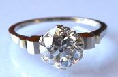 Ring of white gold - Brilliant 1.85 ct