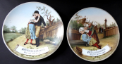 Two hand painted plates, opera motifs - The Bartered Bride