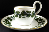 Meissen cup with green vine leaves